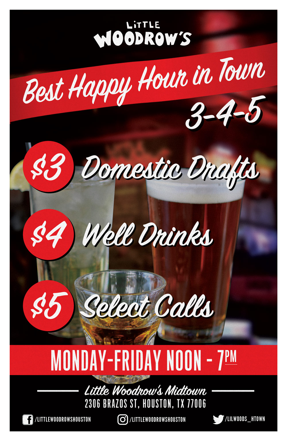 Happy Hour Places Near Me Midtown Houston Sports Bar Little Woodrow S Sports Bar