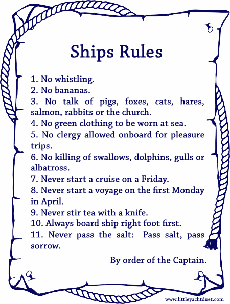 Ships-Rulesjpg (450×596) Superstitions Customs Wtf Pinterest - medical power of attorney forms