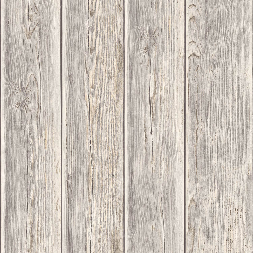3d Effect Bookcase Wallpaper Rustic Wood Faux Textured Plank Panel Taupe Vinyl Feature