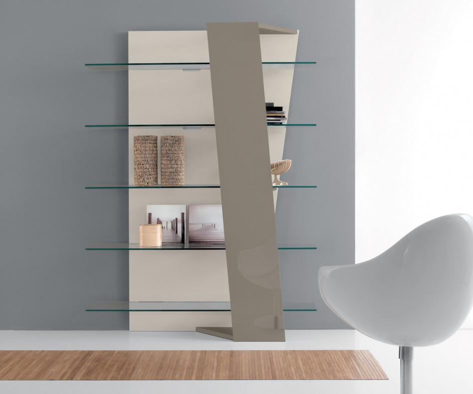 Sessel B Ware Compar Design Bücherregal Book Glas Walnuss