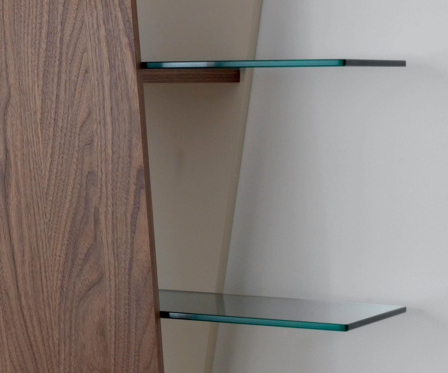 Bücherregal Glas Compar Design Bücherregal Book Glas Walnuss