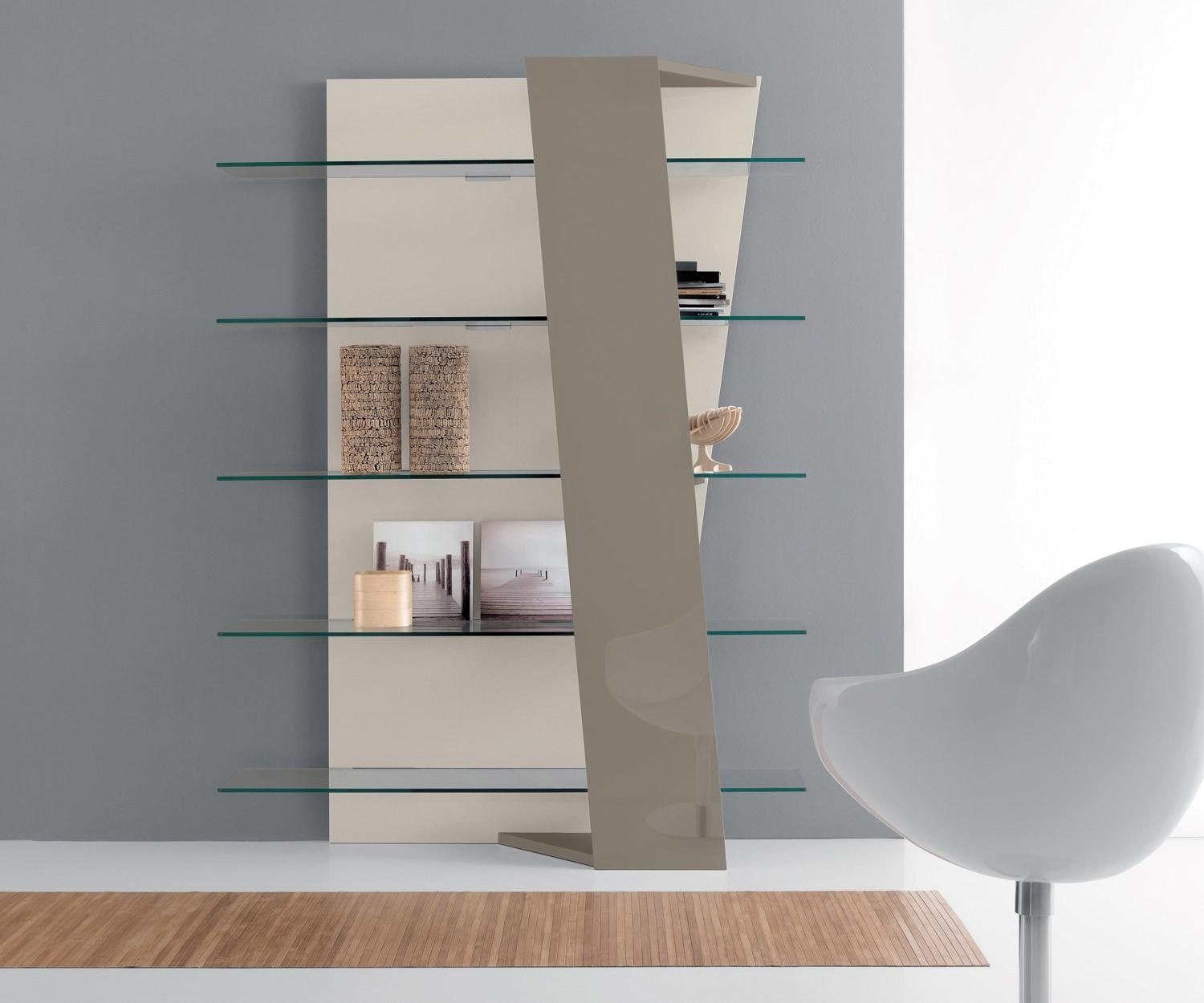 Glas Tische Compar Design Bücherregal Book Glas Walnuss