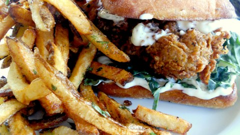 Fried chicken smothered in mayo is proof that you can't have too much of a good thing.