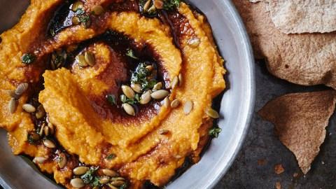 Carrot Mole With Toasted Pumpkin Seed Vinaigrette Recipe