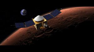 MAVEN over mars (NASA)