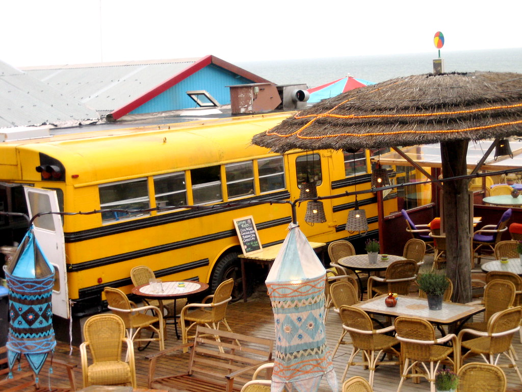 Scheveningen Beach Restaurants School Bus Kitchen At Bora Bora Restaurant Scheveningen B Flickr