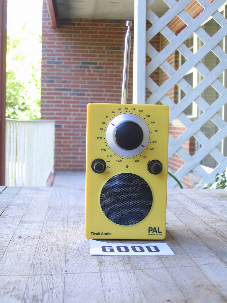 Tivoli Audio Yellow Tivoli Radio Good Itvoli Audio Pal Henry Kloss Designer Flickr