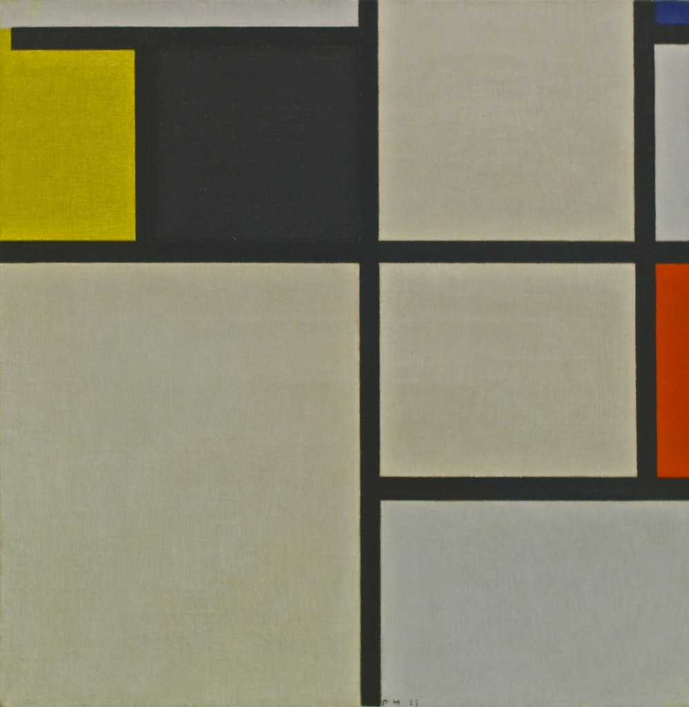 Tableau Moderne Vertical Tableau With Yellow Black Blue And Grey 1923 Piet Mo Flickr