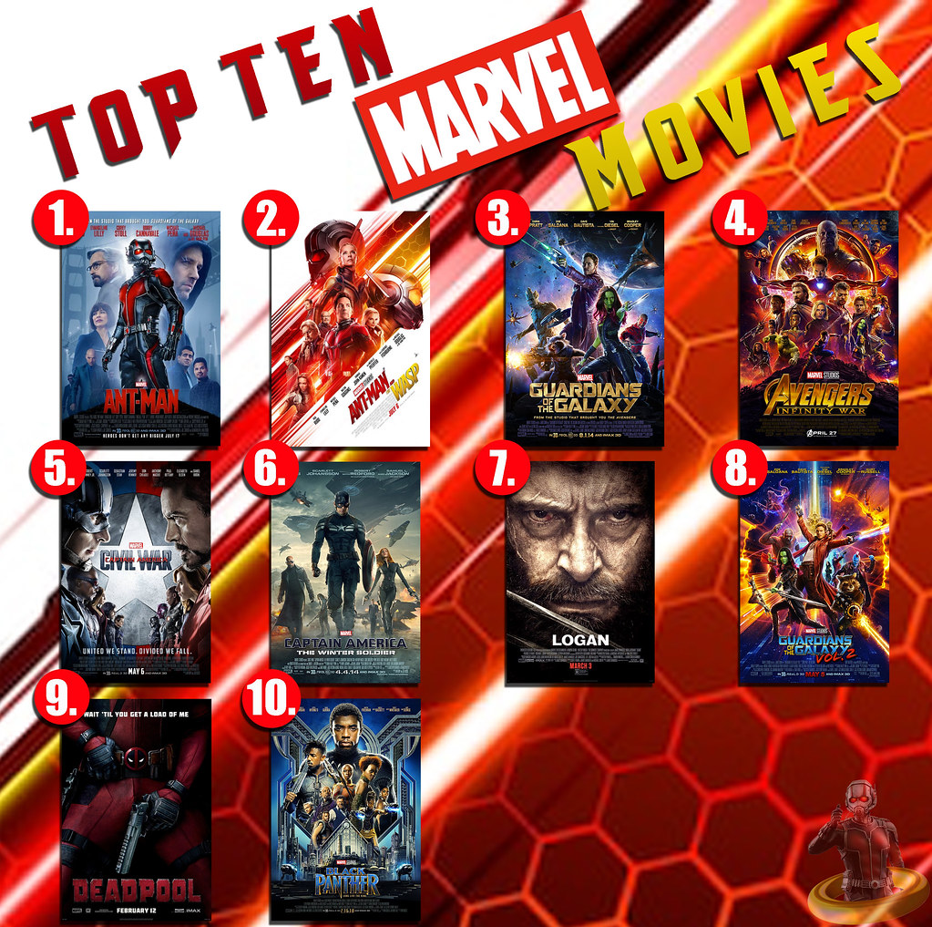 Movel Moveis Top Ten Marvel Movies Another Year Another Top Ten Week Flickr