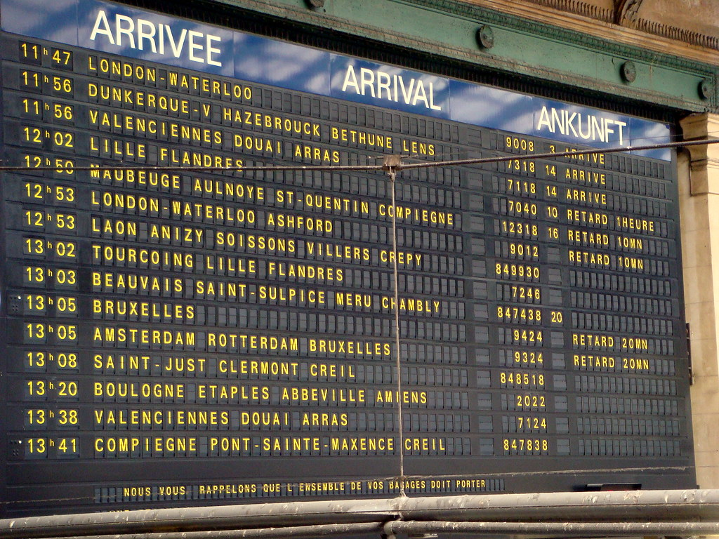 Ashford Paris Paris Nord Train Arrivals Board The Arrivals Board At Gare Flickr