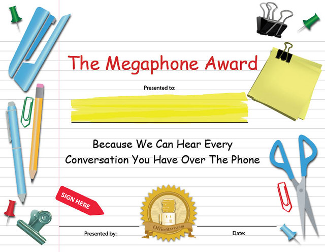 Printable Certificates Megaphone Funny Award Buy Printabl\u2026 Flickr
