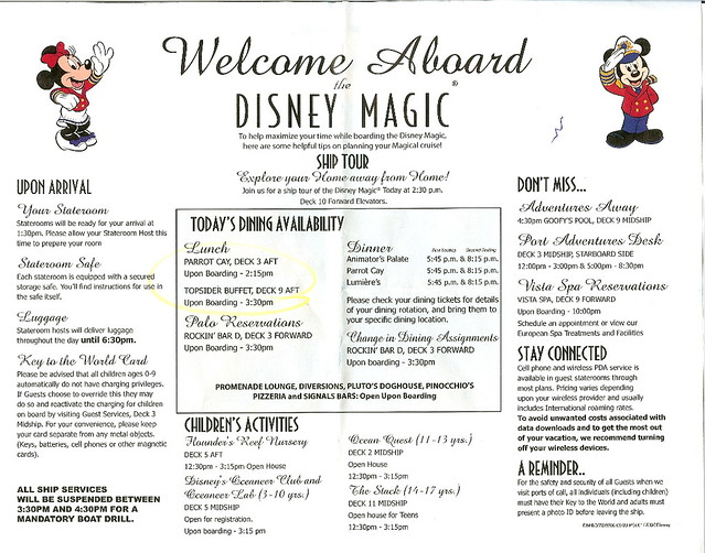 Disney Magic Welcome Aboard Letter - November 14, 2009 Flickr