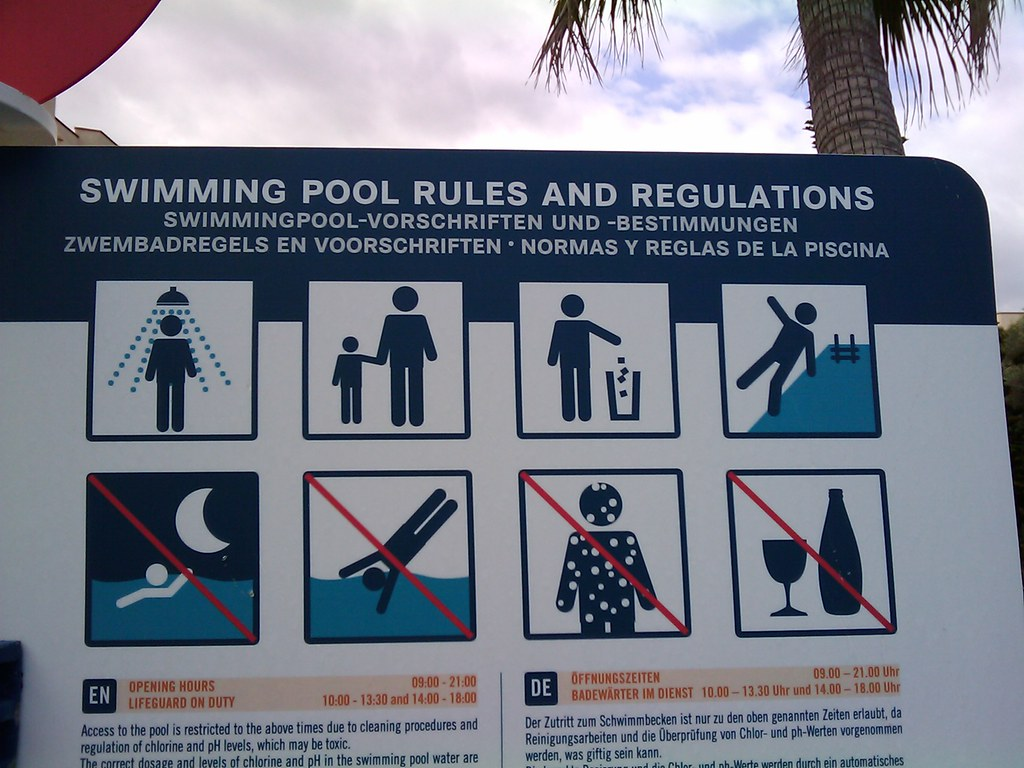 Vorschriften Schwimmingpool Swimming Pool Rules And Regulations Pilsna Flickr