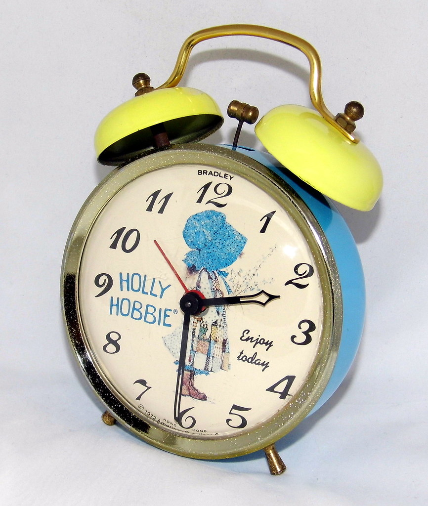 American Made Alarm Clock Vintage Holly Hobbie Manual Wind Novelty Alarm Clock By Br Flickr