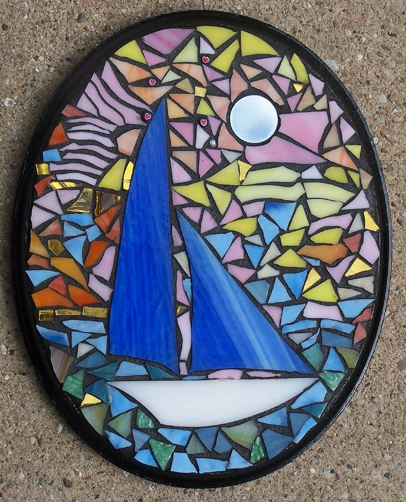 Arte Johnson Love Boat Mosaic Love Boat Mosaic Stained Glass Art Plaque Sailboat Flickr