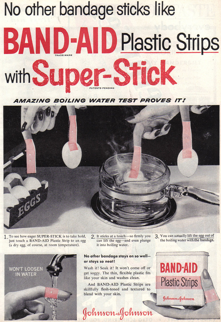 Vintage Blog Vintage Ad #608: These Band-aids Will Hold Eggs! | Source