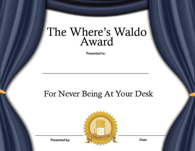 Printable Certificates Where\u0027s Waldo Funny Award Buy Prin\u2026 Flickr