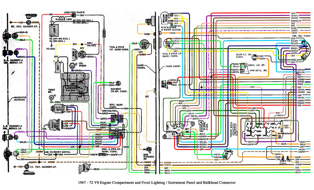 1967-72 Chevy truck V8 and cab wiring This is a GM diagram\u2026 Flickr