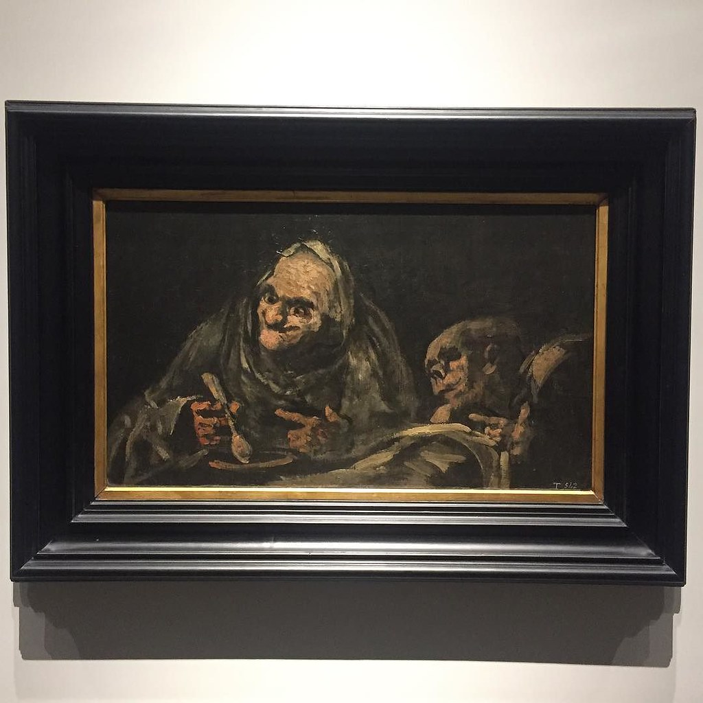 Pinturas Negras Goya Two Old Men Eating Soup Part Of His Fascinating Bl Flickr