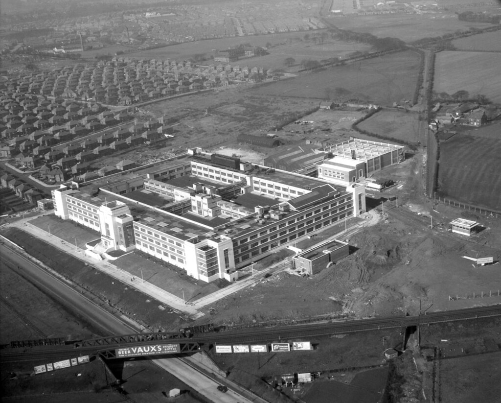 Factory Original Manufacturer Wills Tobacco Factory Newcastle Upon Tyne 1950 Aerial