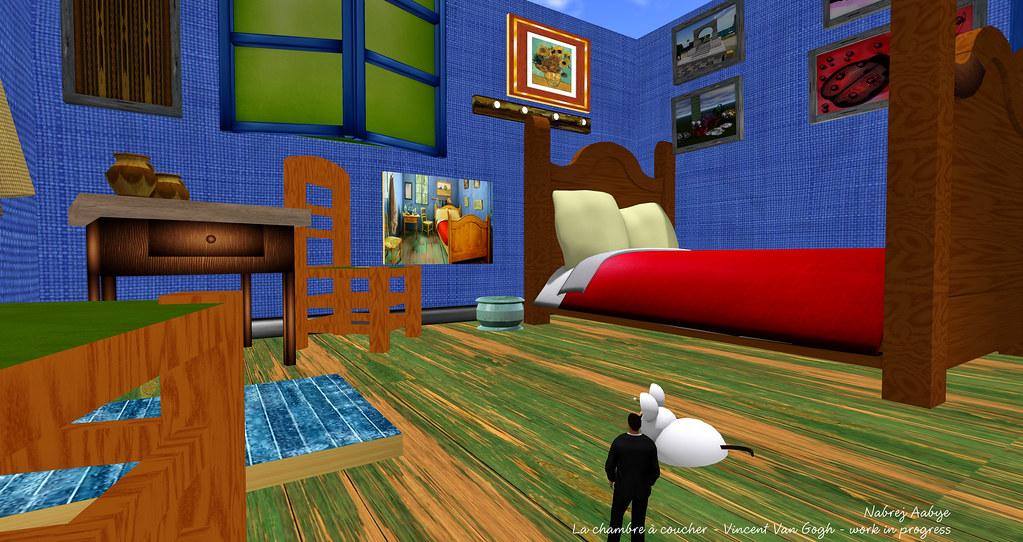 La chambre à coucher - Vincent Van Gogh - work in progress\u2026 Flickr - Description De La Chambre De Van Gogh