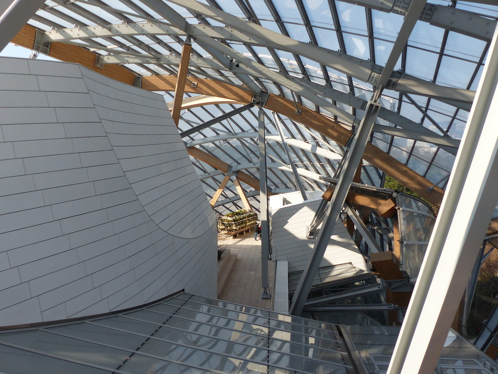 Terrasse Paris 16 Paris 16 Fondation Vuitton 2014 Frank Gehry Sur Les T Flickr