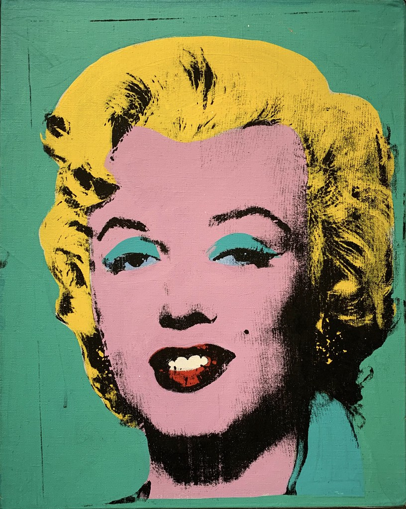 Art Marilyn Green Marilyn 1962 By Andy Warhol Exhibit At The Nati Flickr