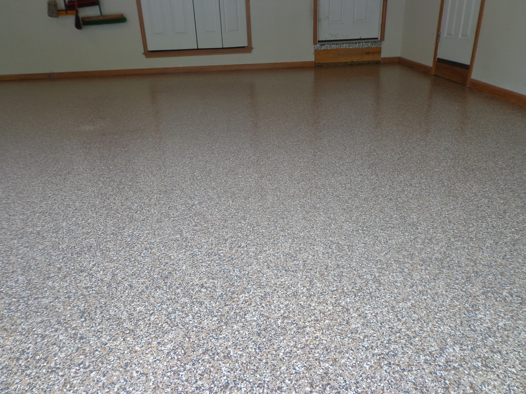 Garage Epoxy With Flakes Epoxy Flake Garage Floor Bryan Ohio Theconcreteprotecto Flickr