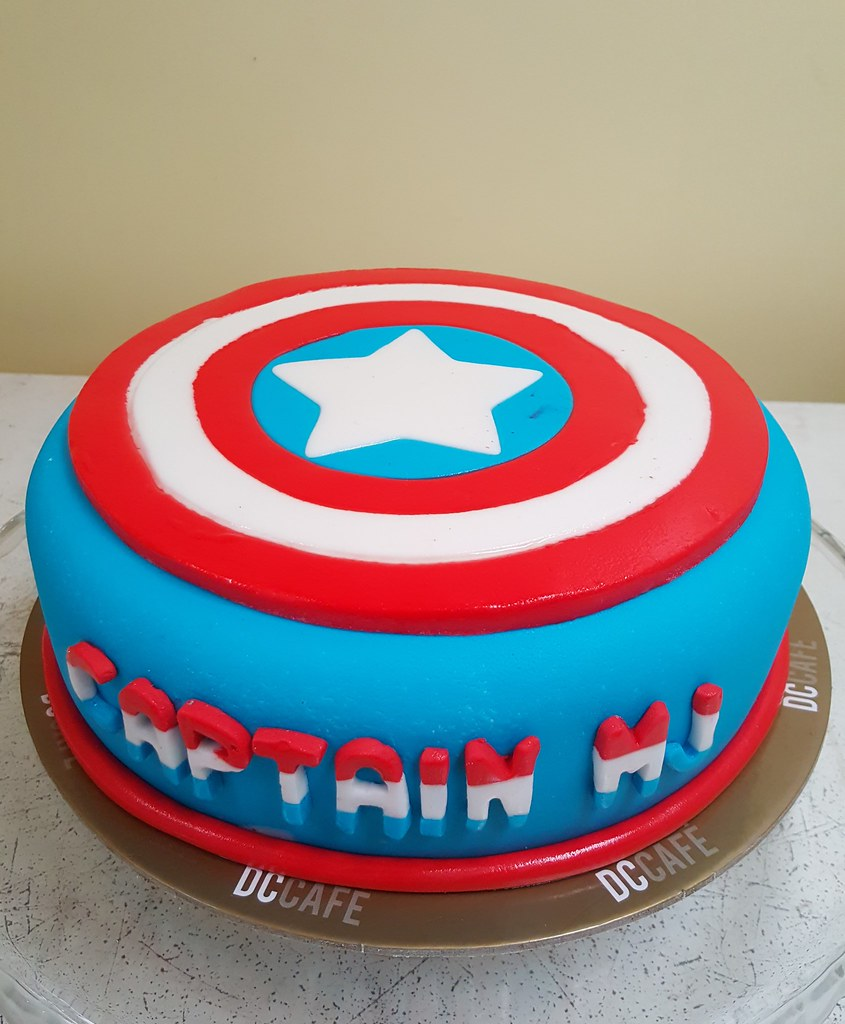 Captain America Kuchen Captain America Cake Liza Flickr