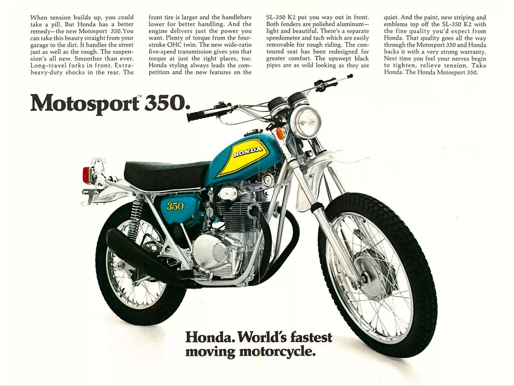 Garage Honda Sion 1972 Honda Sl350 K2 Back Tony Blazier Flickr