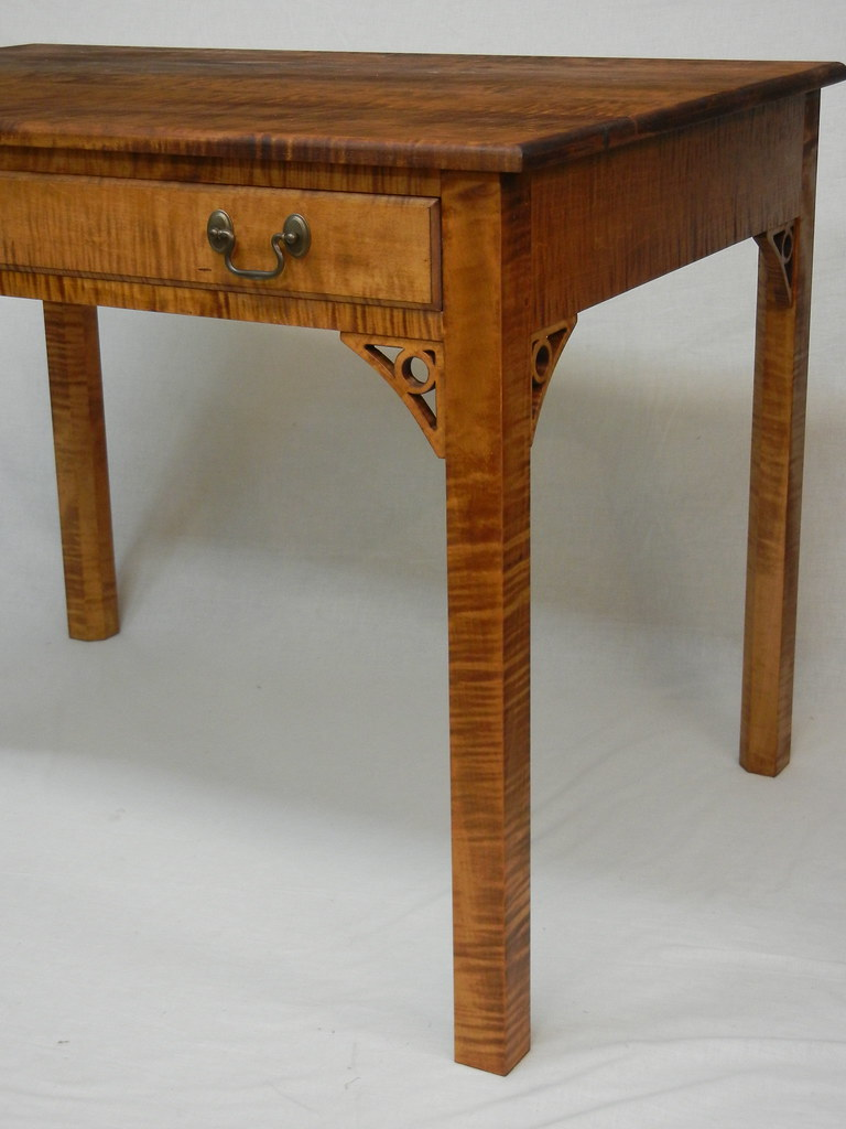 Chippendale Writing Desk In Solid Tiger Maple By Doucette Flickr