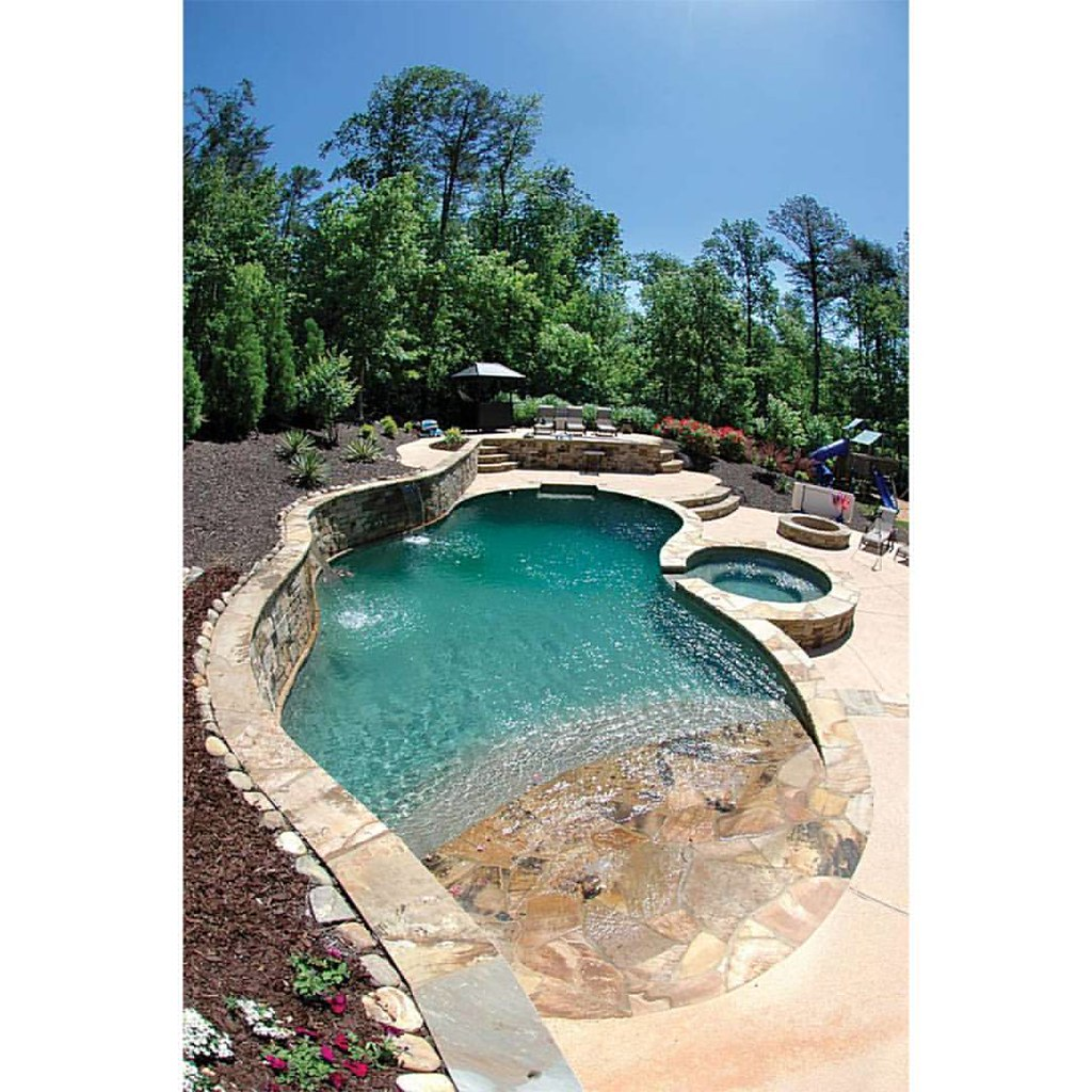 Jacuzzi Pool Design Fountain Swimming Pool Jacuzzi Landscape Rock Garde Flickr