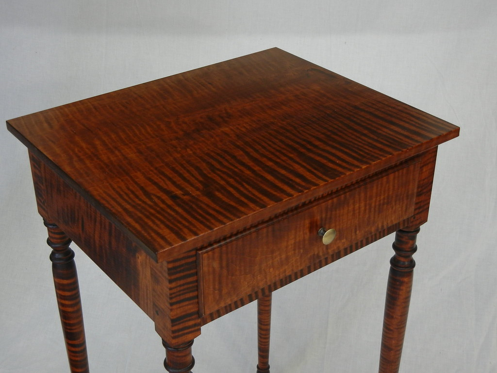 Tiger Maple End Table With Turned Legs Tiger Maple End Tab Flickr