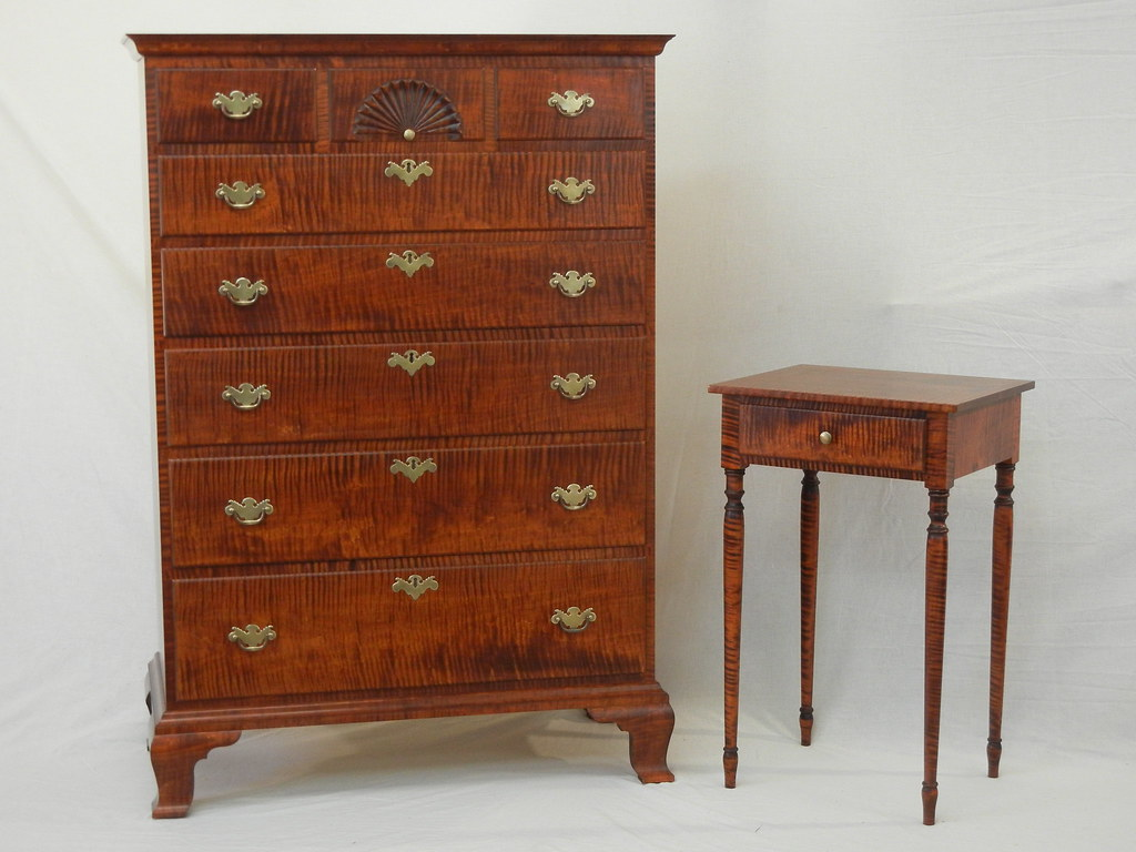 Reproduction Chest And Nightstand In Solid Tiger Maple Flickr