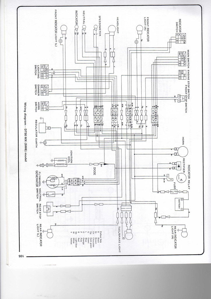 yamaha dt50 wiring diagram chris wheal flickr