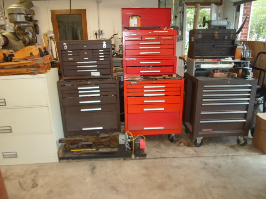 Shop Tool Boxes Tool Boxes And Cabinets In My Garage Shop Tan Cabinet To T Flickr