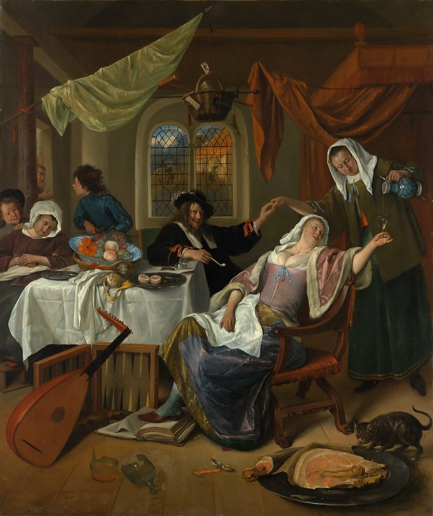 Steen Strip Jan Steen The Dissolute Household C 1663 64 Flickr Photo