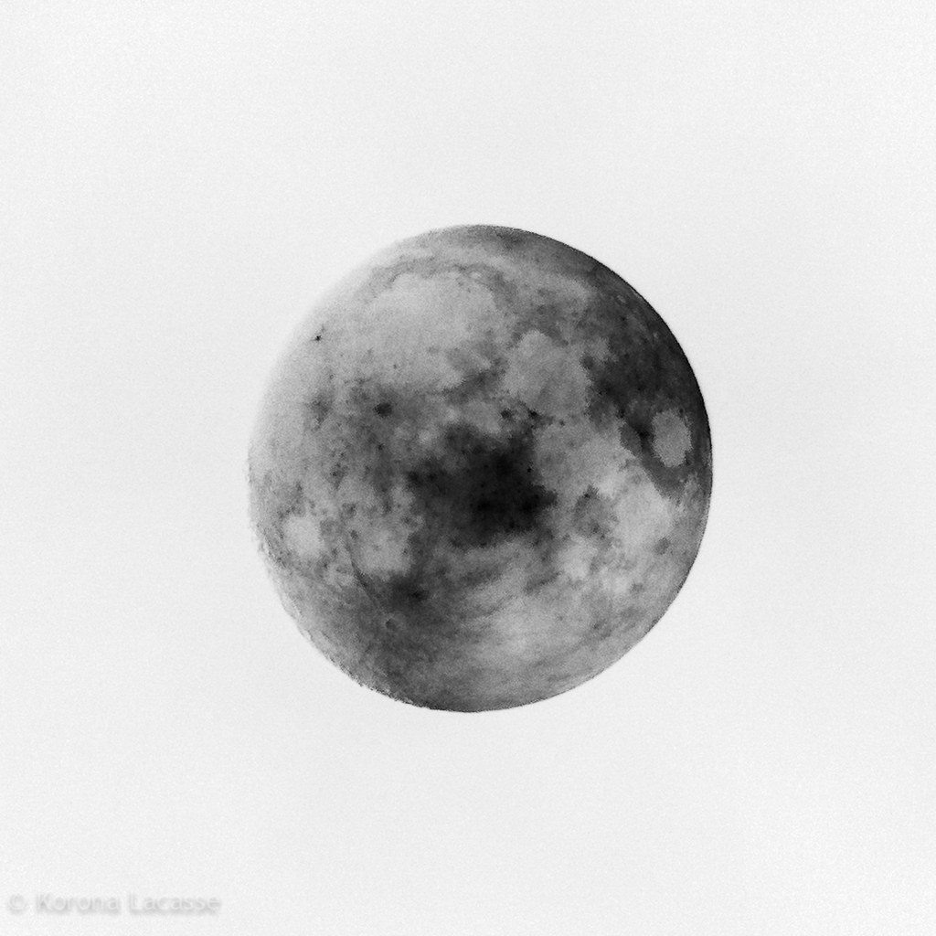 Full Moon Drawing Black And White Inverted Moon Korona Lacasse Flickr
