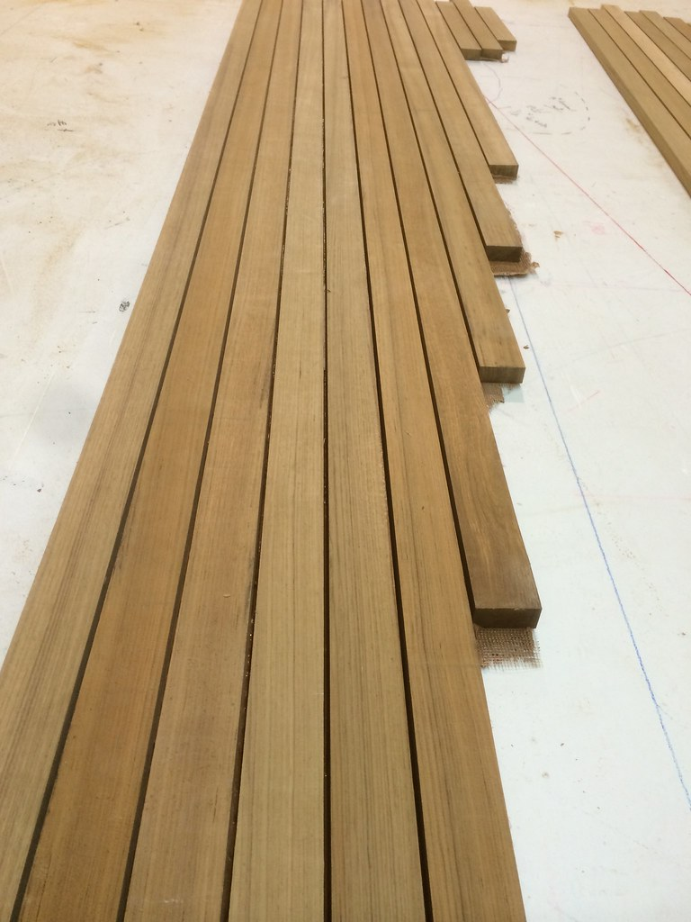 Decking Panels Teak Decking Panels Part Of Our Teak Decking System Yacht Teak