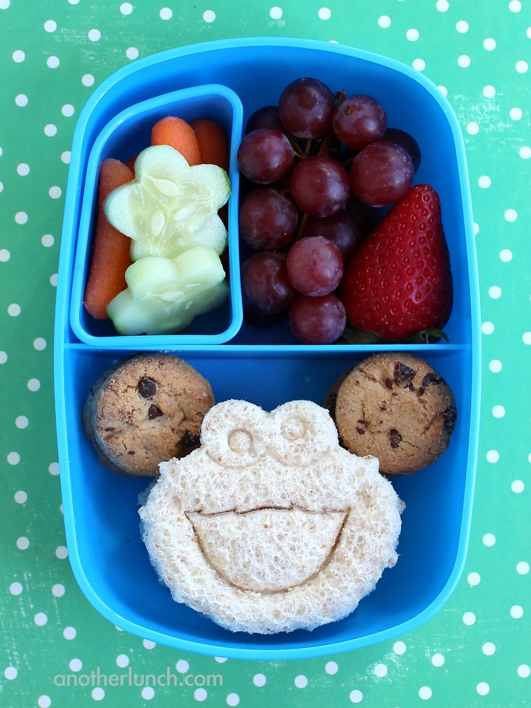 Lunch In A Box Cookie Monster Preschool Lunch In A Sassy Bento Box Flickr