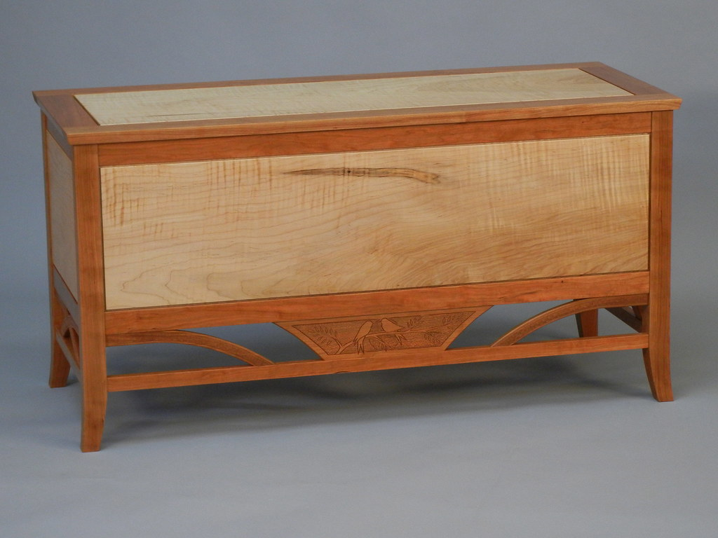 Hope Chest Handmade Of Tiger Maple And Cherry By Doucette Flickr
