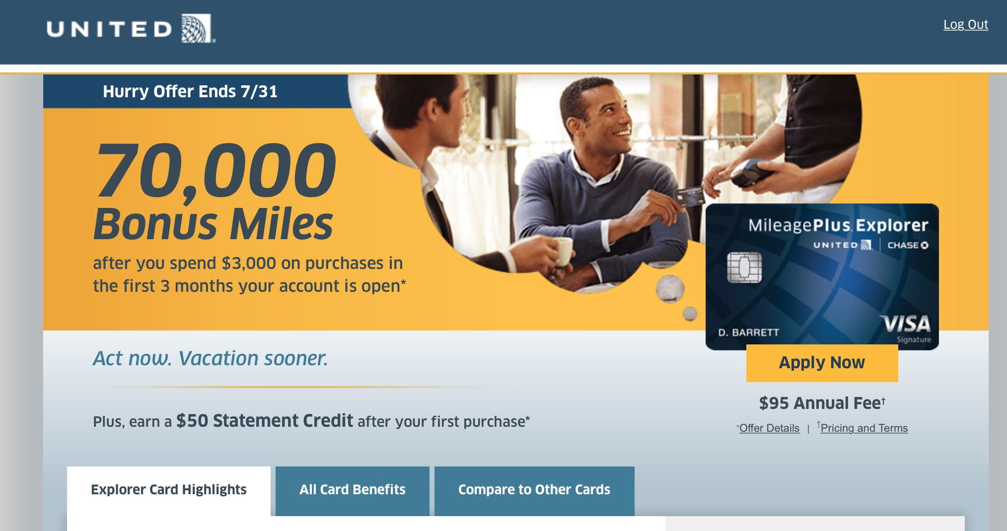 United Credit Card Customer Service Oddly I Was Approved For The United Mileageplus Explorer Card