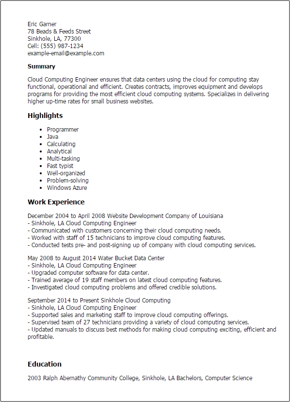 best resume templates for engineering