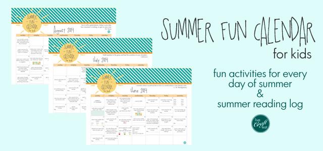 Summer Activities For Kids - Planner, Bucket List, Reading Log LCE