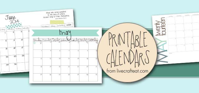Free Printable Calendars - Monthly, Yearly  More LCE