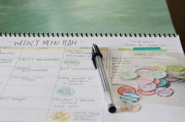 Free Weekly Menu Planner For The Entire Year - Spiral Notebook LCE