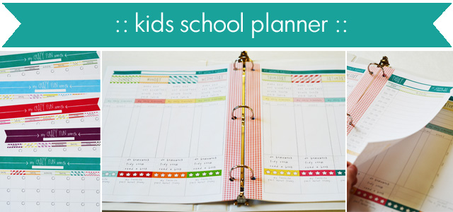 Daily, Weekly, Monthly School Planner  Calendar For Kids LCE - daily monthly planners