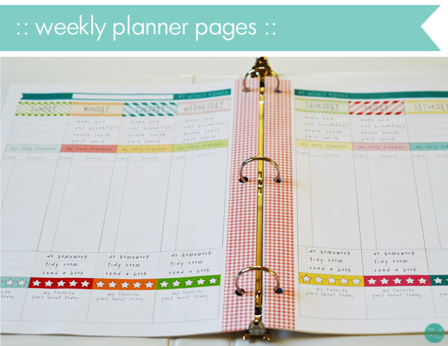 Daily, Weekly, Monthly School Planner  Calendar For Kids LCE