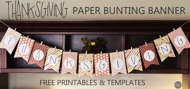 DIY Thanksgiving Decoration  Kids Craft - Free Printables LCE