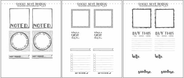 Free Template For DIY Printable Sticky Notes Live Craft Eat